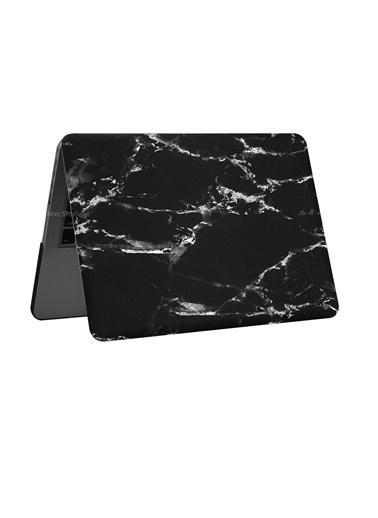 "Mcstorey MacBook Pro A1278 13"" 13.3"" Kılıf Sert Shell Kapak Koruma Hard Incase Mermer Zebra"